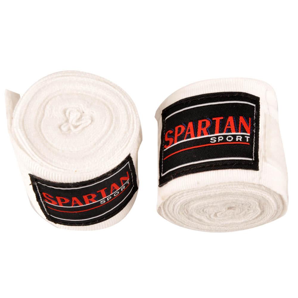 Boxerské bandáže Spartan bílá