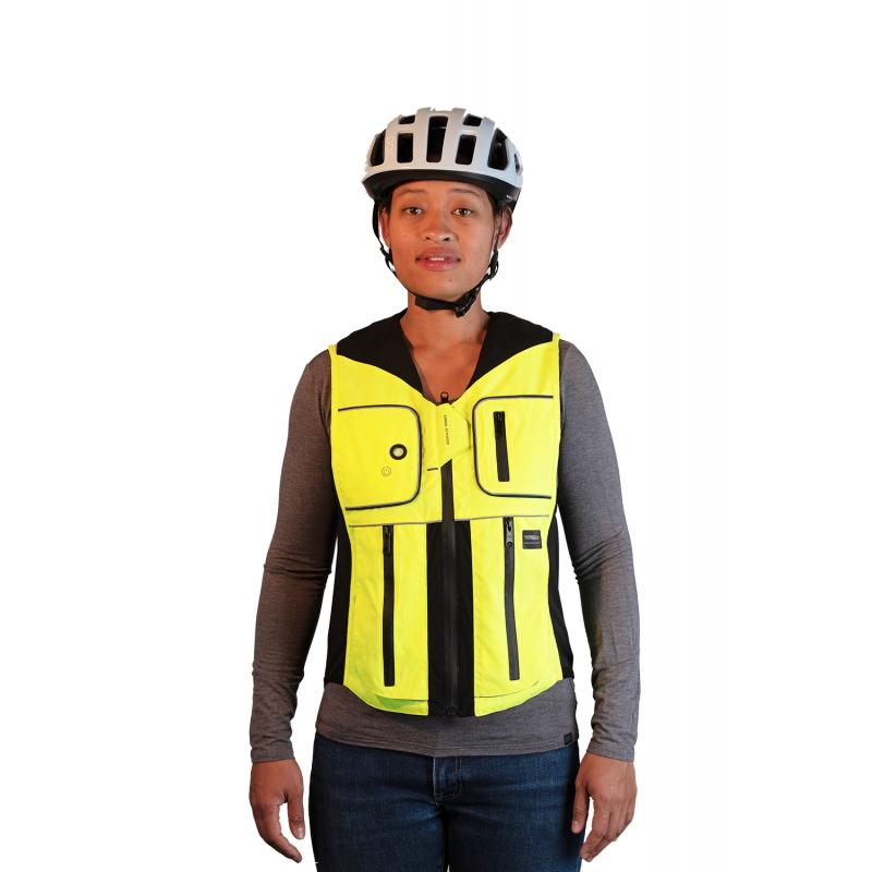 Airbagová vesta pro cyklisty Helite B'Safe zeleno-žlutá - S