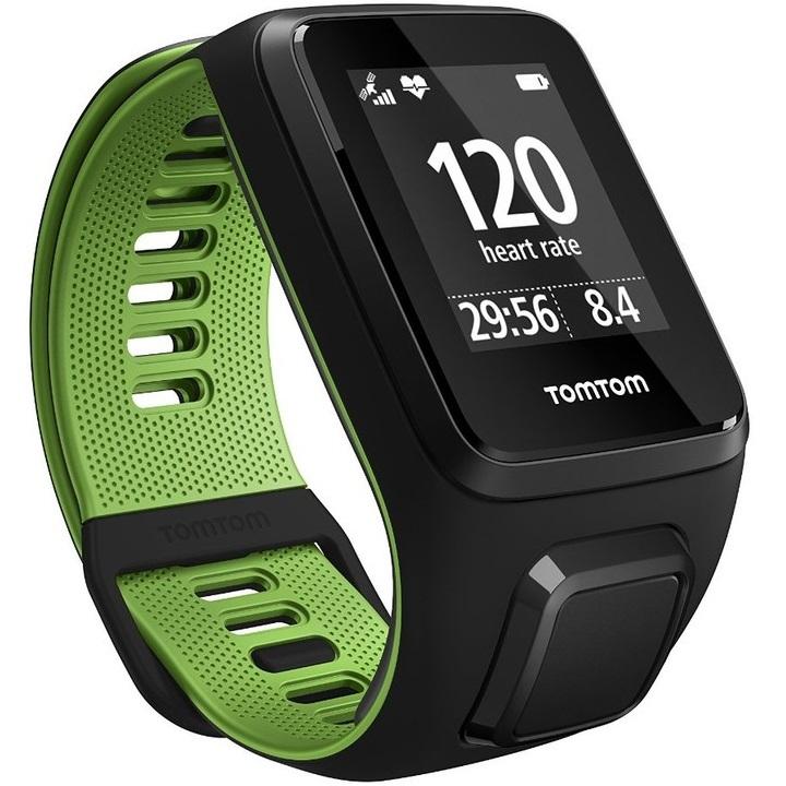 Sporttester TomTom Runner 3 Cardio černo-zelená - L (143-206 mm)