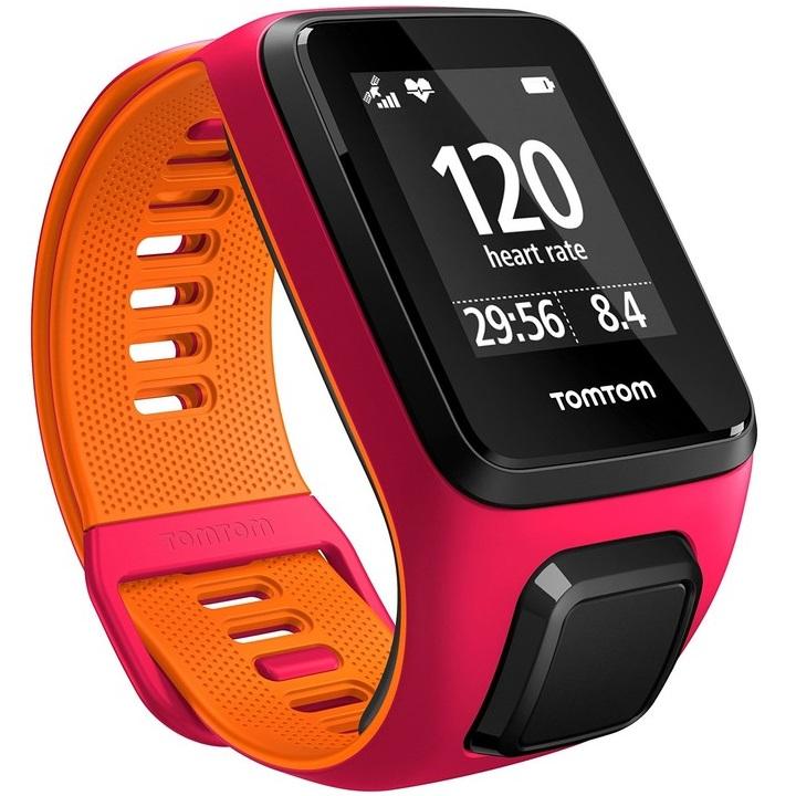 Sporttester TomTom Runner 3 Cardio růžovo-oranžová - S (121-175 mm)