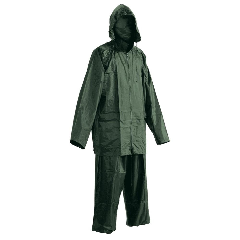 Rybářský oblek s kapucí Carina zelená - L