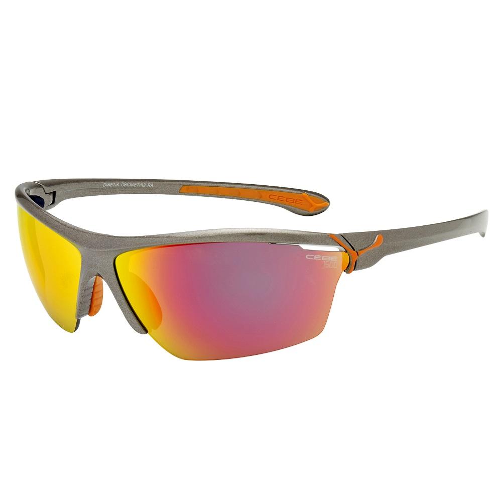 Cyklistické brýle Cébé Cinetik šedo-oranžová
