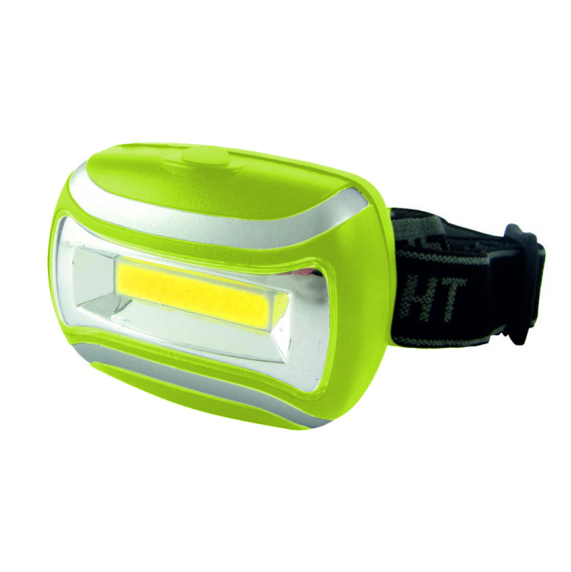Bateriecentrum COB Headlamp 3W zelená