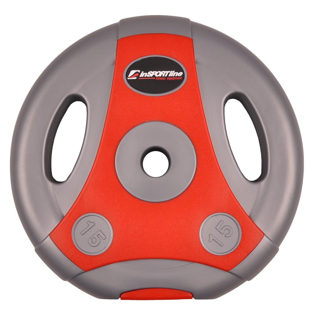 Cementový kotouč inSPORTline Ergo 15 kg šedo-červený