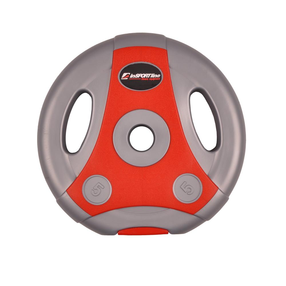 Cementový kotouč inSPORTline Ergo 5 kg šedo-červený