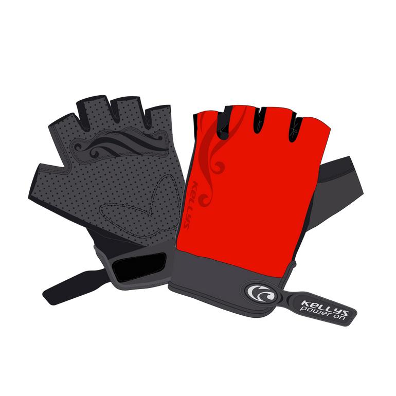 Dámské cyklo rukavice KELLYS SUNNY SHORT červená - L