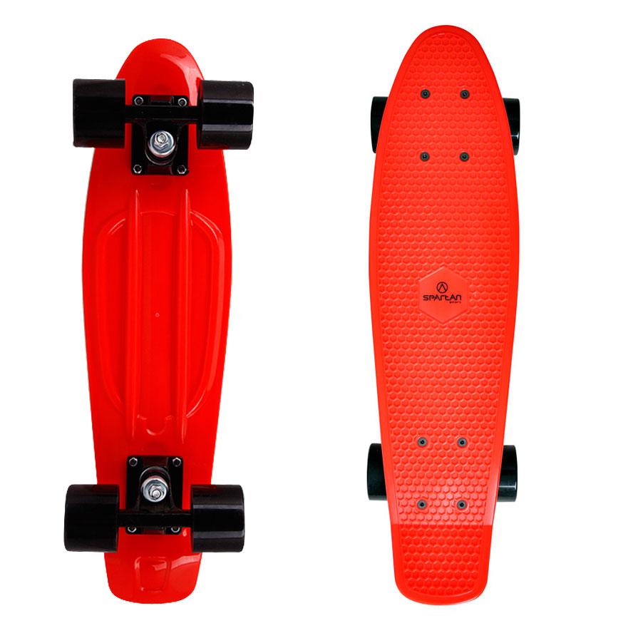 Penny board Spartan Plastic červená