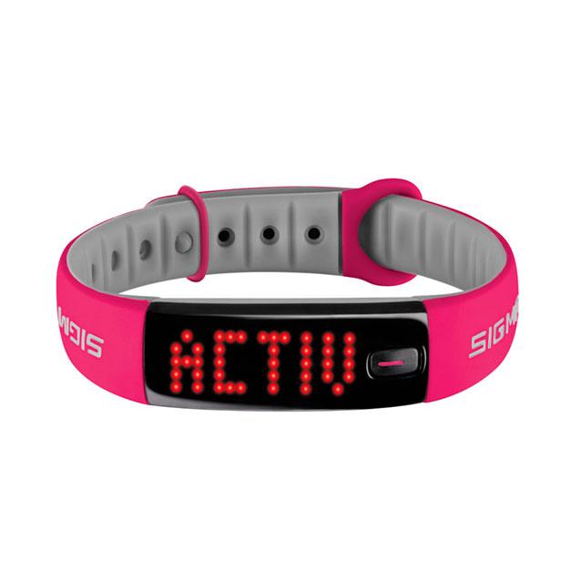Fitness náramek Sigma Activo růžovo-šedá