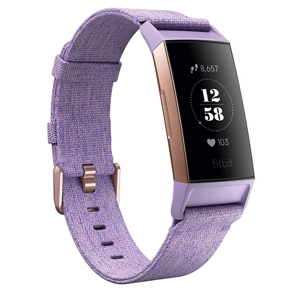 Fitness náramek Fitbit Charge 3 Lavender Woven