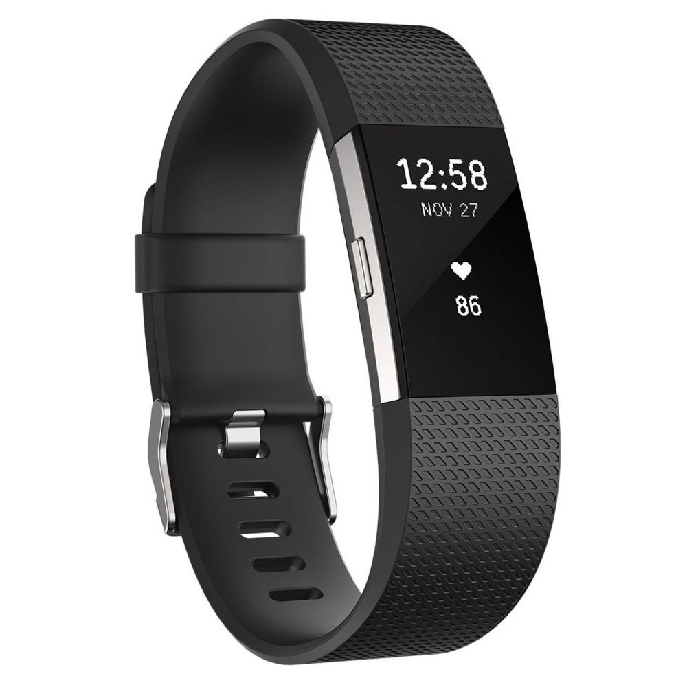 Fitbit Charge 2 Black Silver S