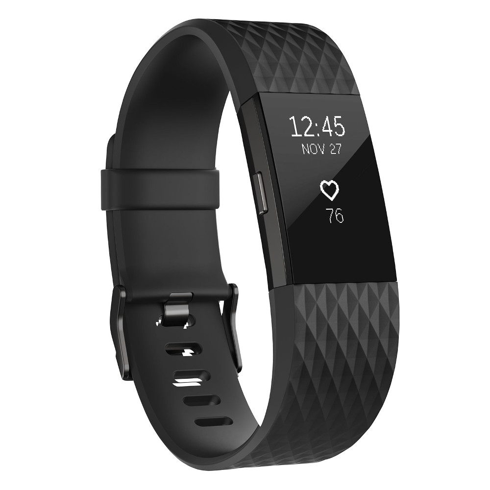 Fitness náramek FITBIT Charge 2 Black Gunmetal L