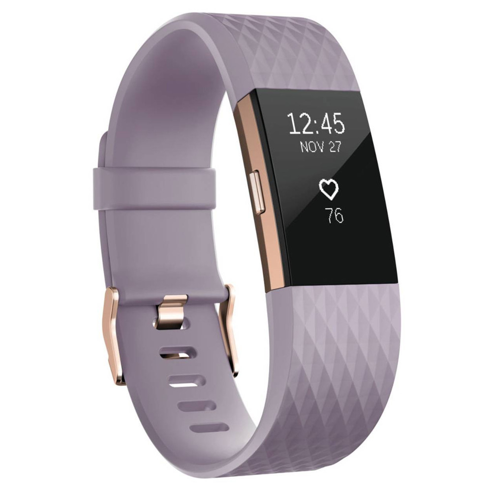 Fitness náramek FITBIT Charge 2 Lavender Rose Gold S