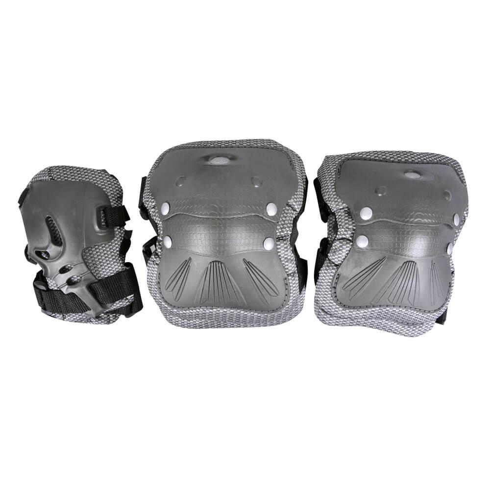 Chrániče Spartan Coolmax set 6-dílný šedá - S
