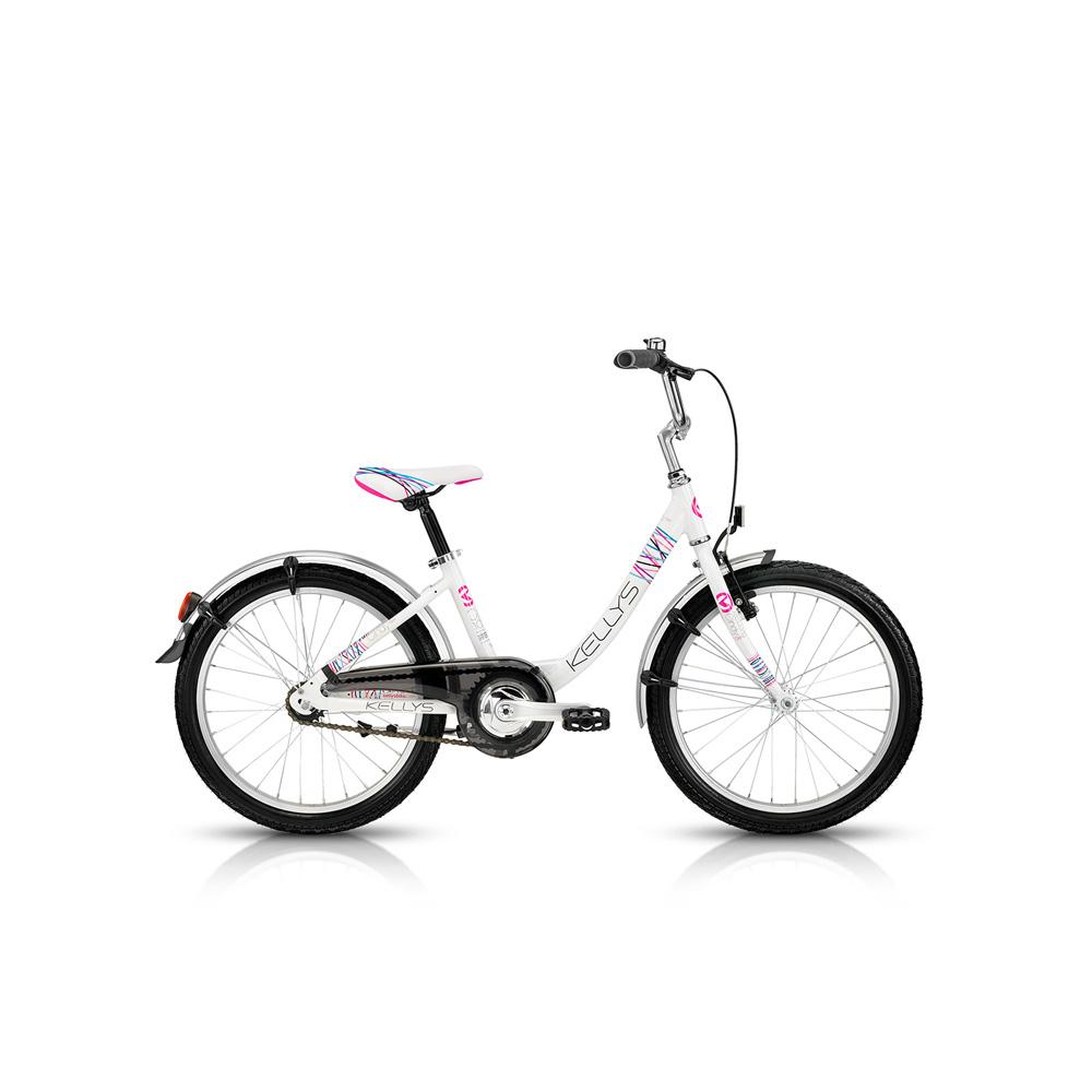 """Dětské dívčí kolo KELLYS Cindy 20""""- model 2015 bílá - 295 mm (11.5"""") - záruka 5 let"""