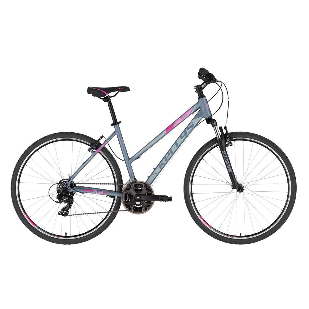 """Dámské crossové kolo KELLYS CLEA 10 28"""" - model 2020 Grey Pink - S (17'') - Záruka 10 let"""