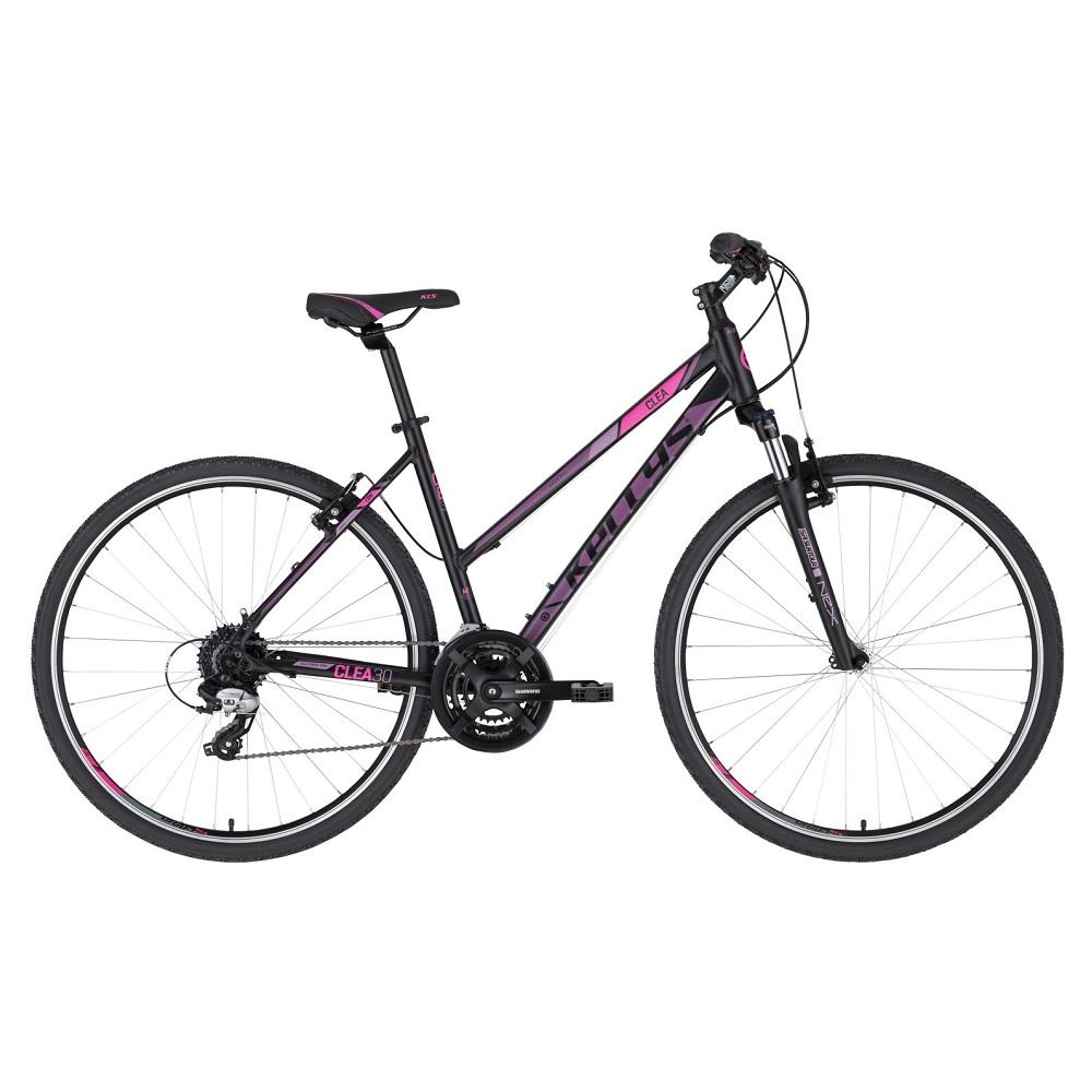 """Dámské crossové kolo KELLYS CLEA 30 28"""" - model 2020 Black Pink - S (17'') - Záruka 10 let"""