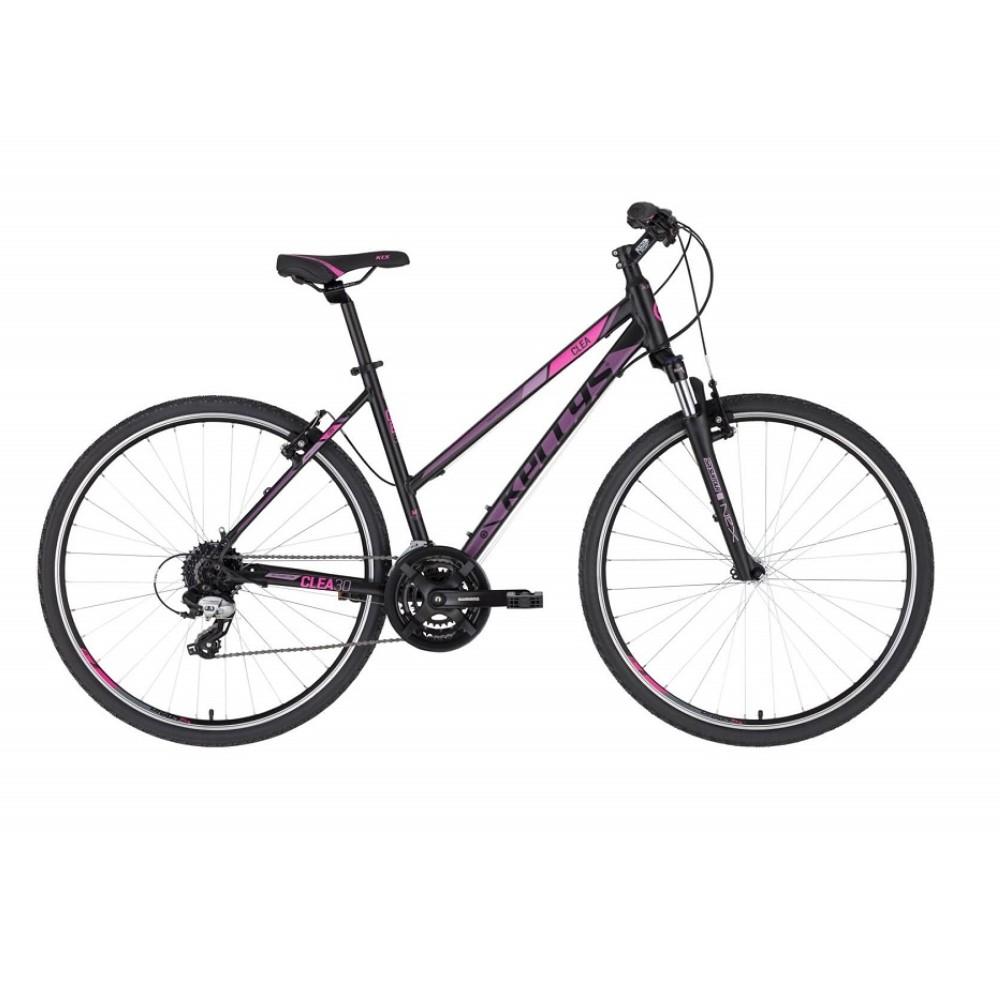 """Dámské crossové kolo KELLYS CLEA 30 28"""" - model 2021 Black Pink - S (17'') - Záruka 10 let"""