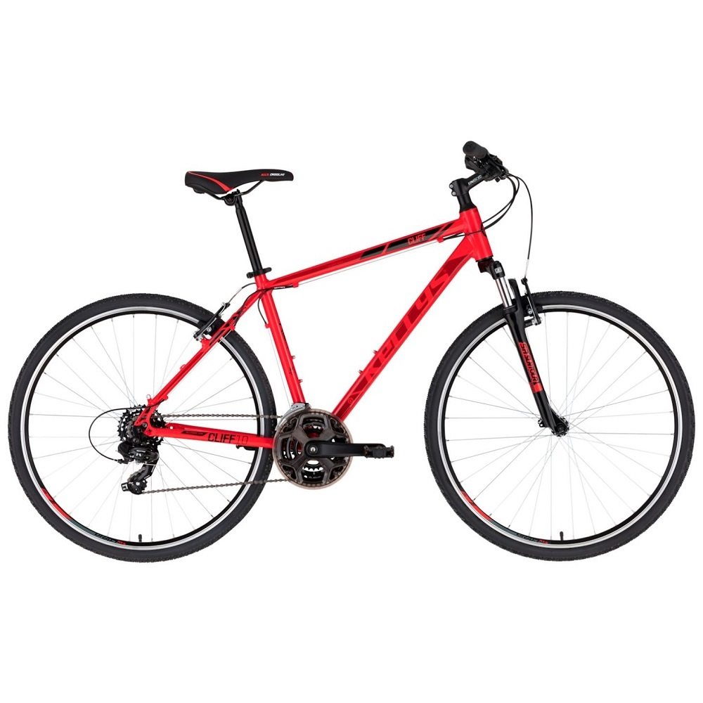 """Pánské crossové kolo KELLYS CLIFF 10 28"""" - model 2020 Red - S (17'') - Záruka 10 let"""