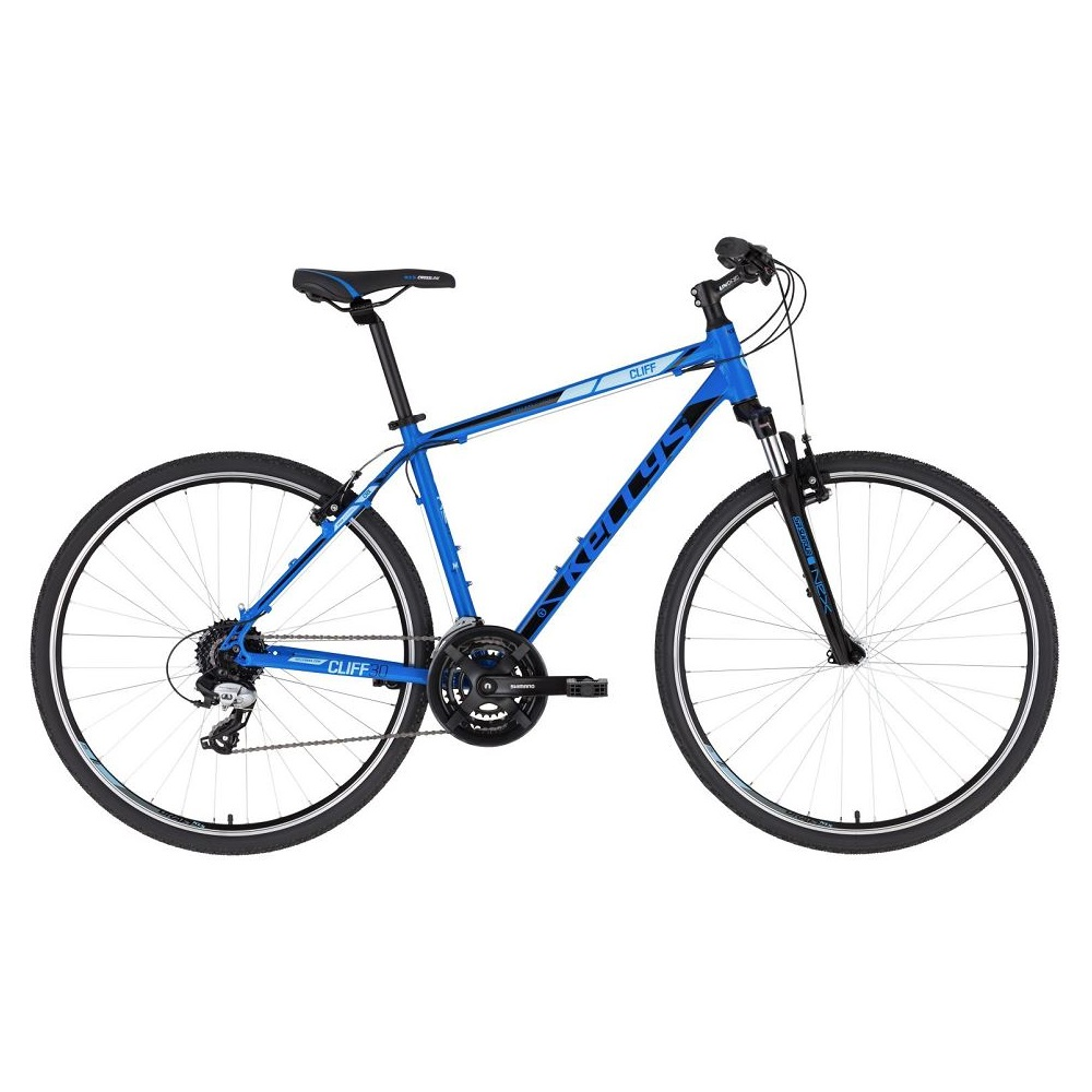 """Pánské crossové kolo KELLYS CLIFF 30 28"""" - model 2020 Blue - L (21'') - Záruka 10 let"""
