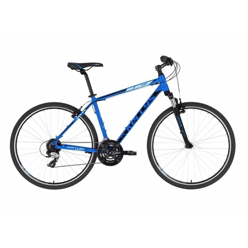 """Pánské crossové kolo KELLYS CLIFF 30 28"""" - model 2021 Blue - S (17'') - Záruka 10 let"""