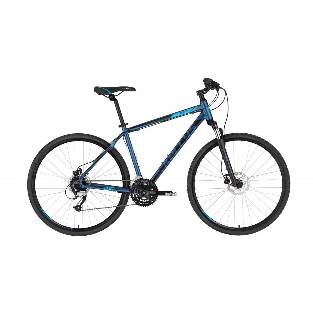 """Pánské crossové kolo KELLYS CLIFF 90 28"""" - model 2021 Deep Blue - S (17'') - Záruka 10 let"""