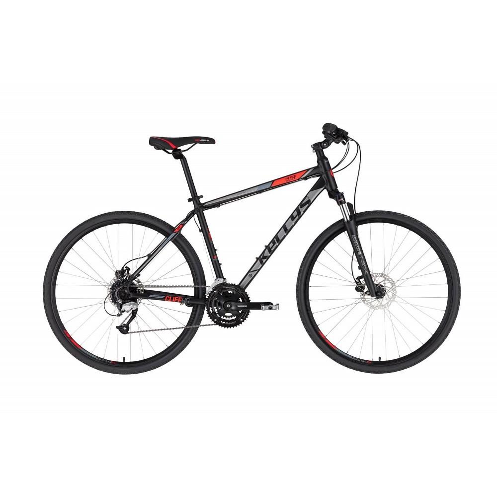 """Pánské crossové kolo KELLYS CLIFF 90 28"""" - model 2021 Black Red - S (17'') - Záruka 10 let"""