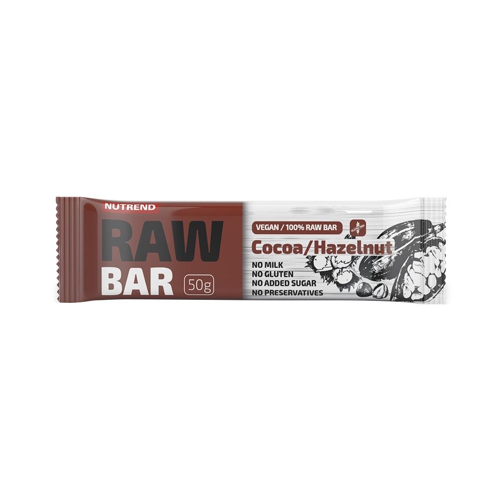 Tyčinka Nutrend Raw Bar 50 g kakao+lískový ořech