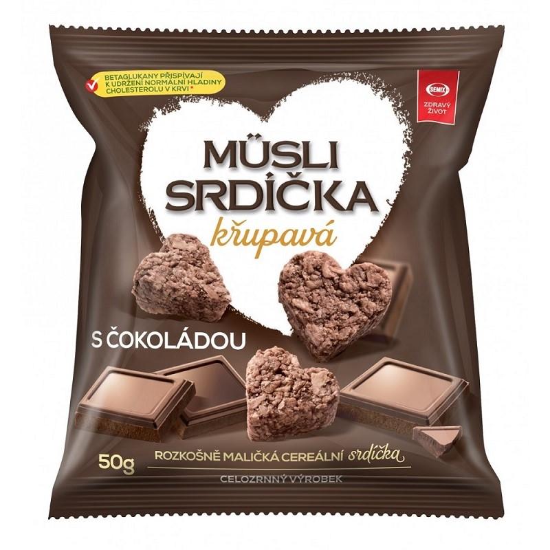 Müsli srdíčka křupavá Semix čokoláda