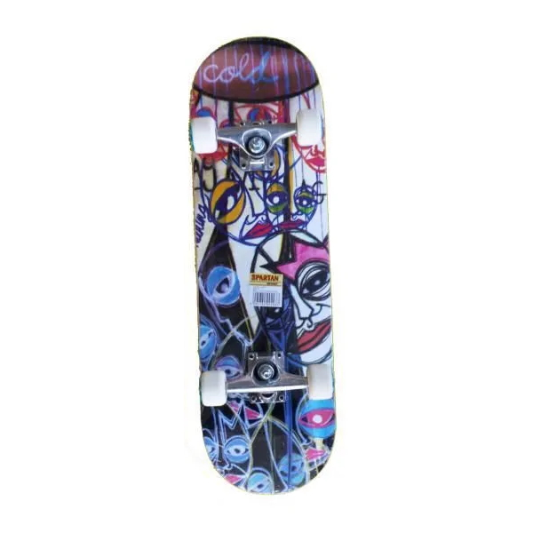 Skateboard Spartan Circle Star Cold Abstract