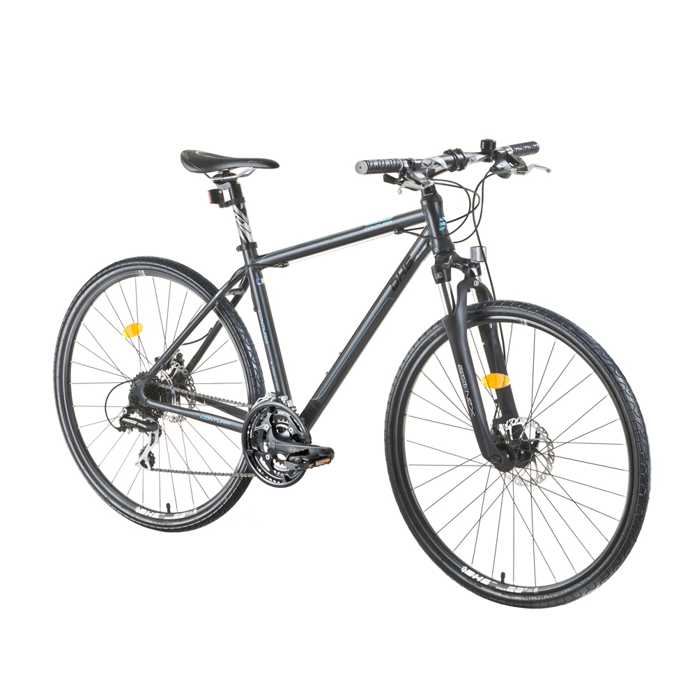 "Crossové kolo DHS Contura 2867 28"" - model 2015 Grey - 21"" - Záruka 10 let"