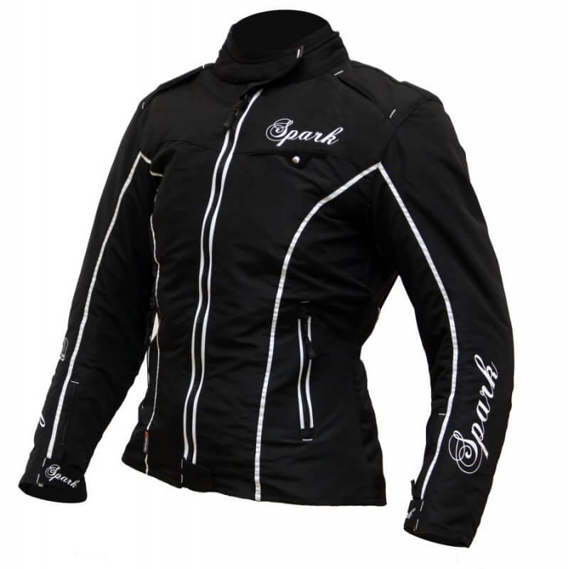 Dámská textilní moto bunda Spark Nora černá - XXS