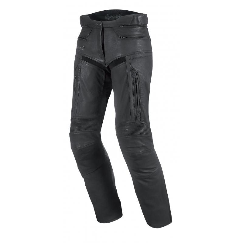 Dámské kožené moto kalhoty Spark Virginia černá - XXS