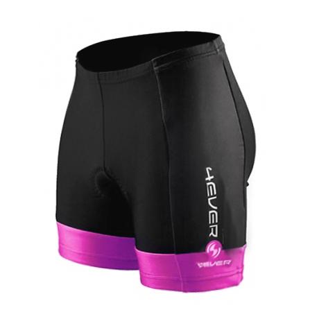 Dámské cyklo kalhoty 4EVER - krátké černo-růžová - L 24326a676d