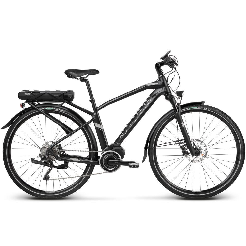 "Trekingové elektrokolo Kross Trans Hybrid 5.0 28"" - model 2020 Black / Graphite Matte - S (17'') - Záruka 10 let"
