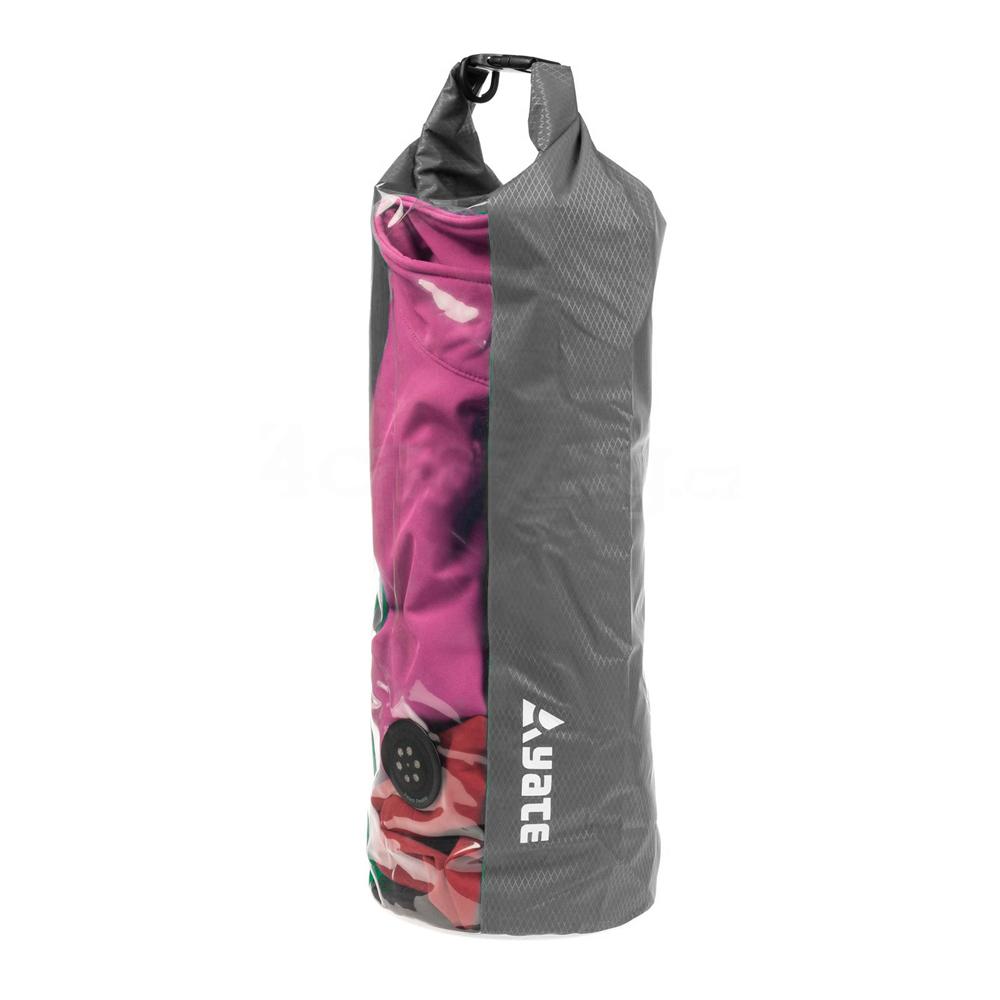 Nepromokavý vak s oknem a ventilem Yate Dry Bag 15l šedá