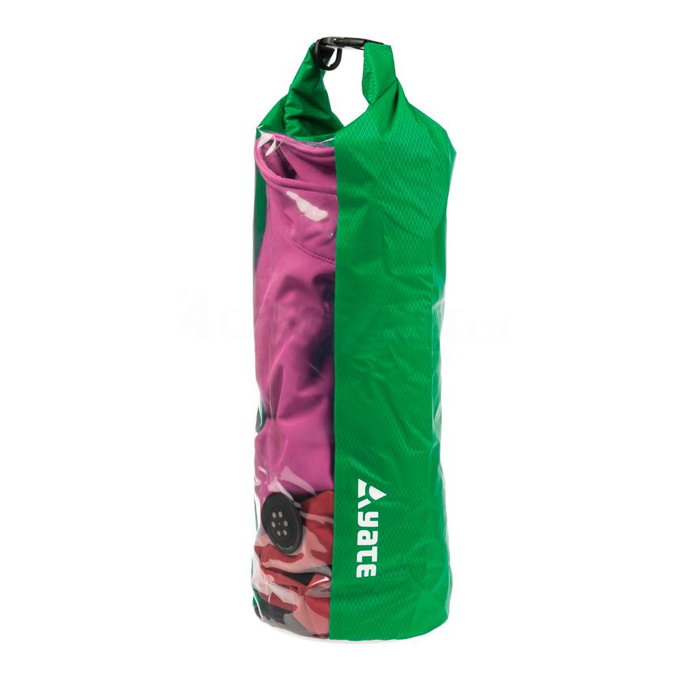 Nepromokavý vak s oknem a ventilem Yate Dry Bag 15l zelená