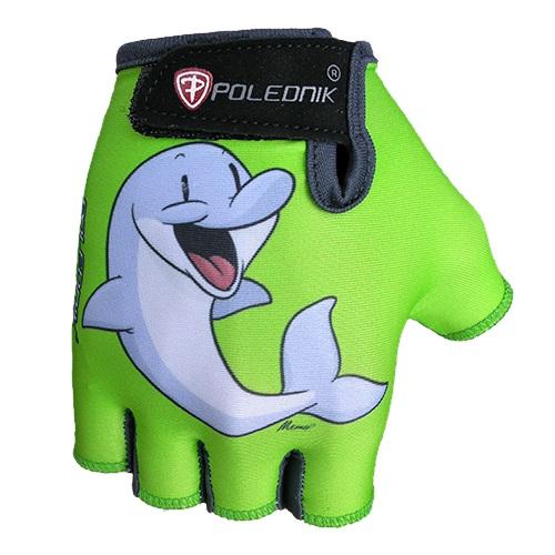 Dětské cyklo rukavice POLEDNIK Baby New delfín - 3