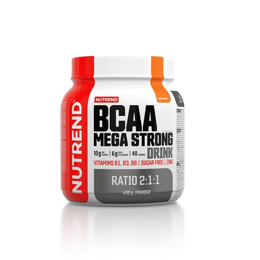 Aminokyseliny Nutrend BCAA Mega Strong Drink (2:1:1) 400g pomeranč