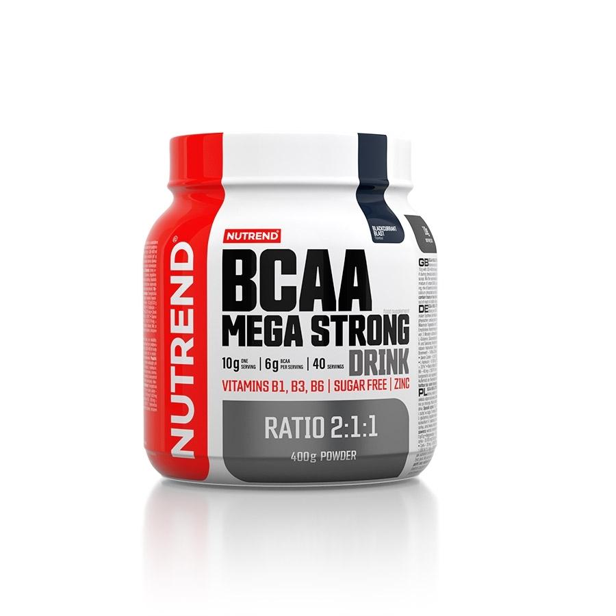 Aminokyseliny Nutrend BCAA Mega Strong Drink (2:1:1) 400g černý rybíz