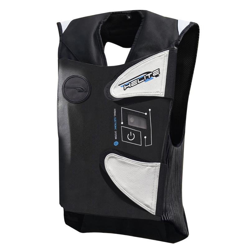 Závodní airbagová vesta Helite e-GP Air černo-bílá - S