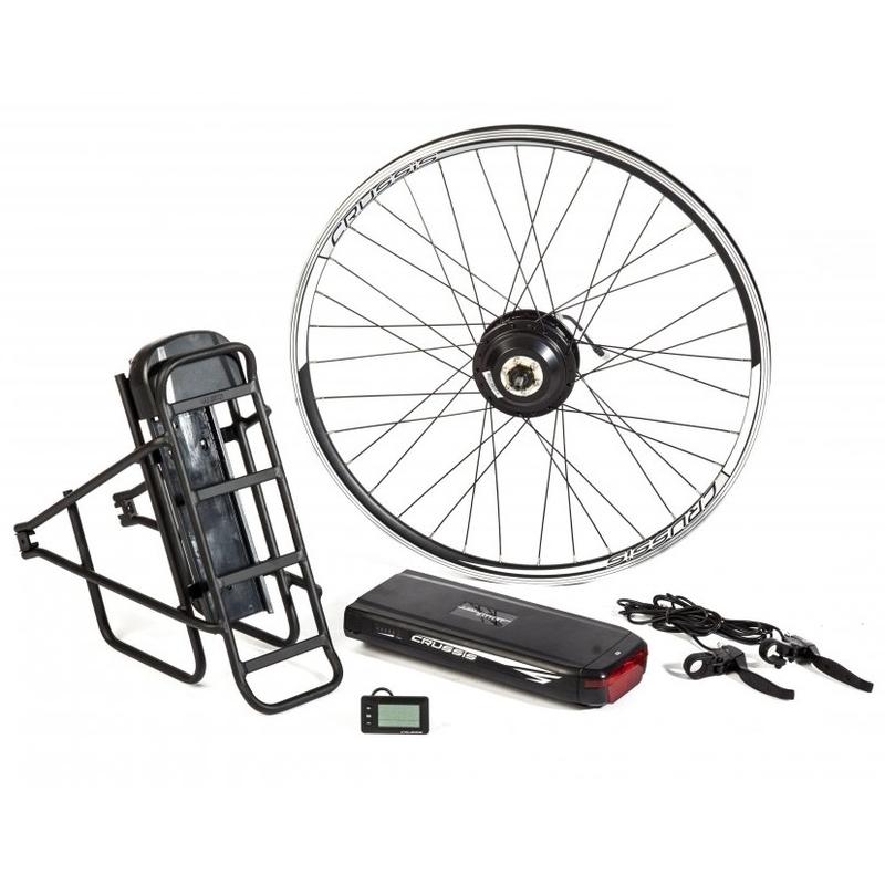 """Elektrosada CRUSSIS pro 26"""" kolo, V-brzdy, nosičová baterie, nosič"""