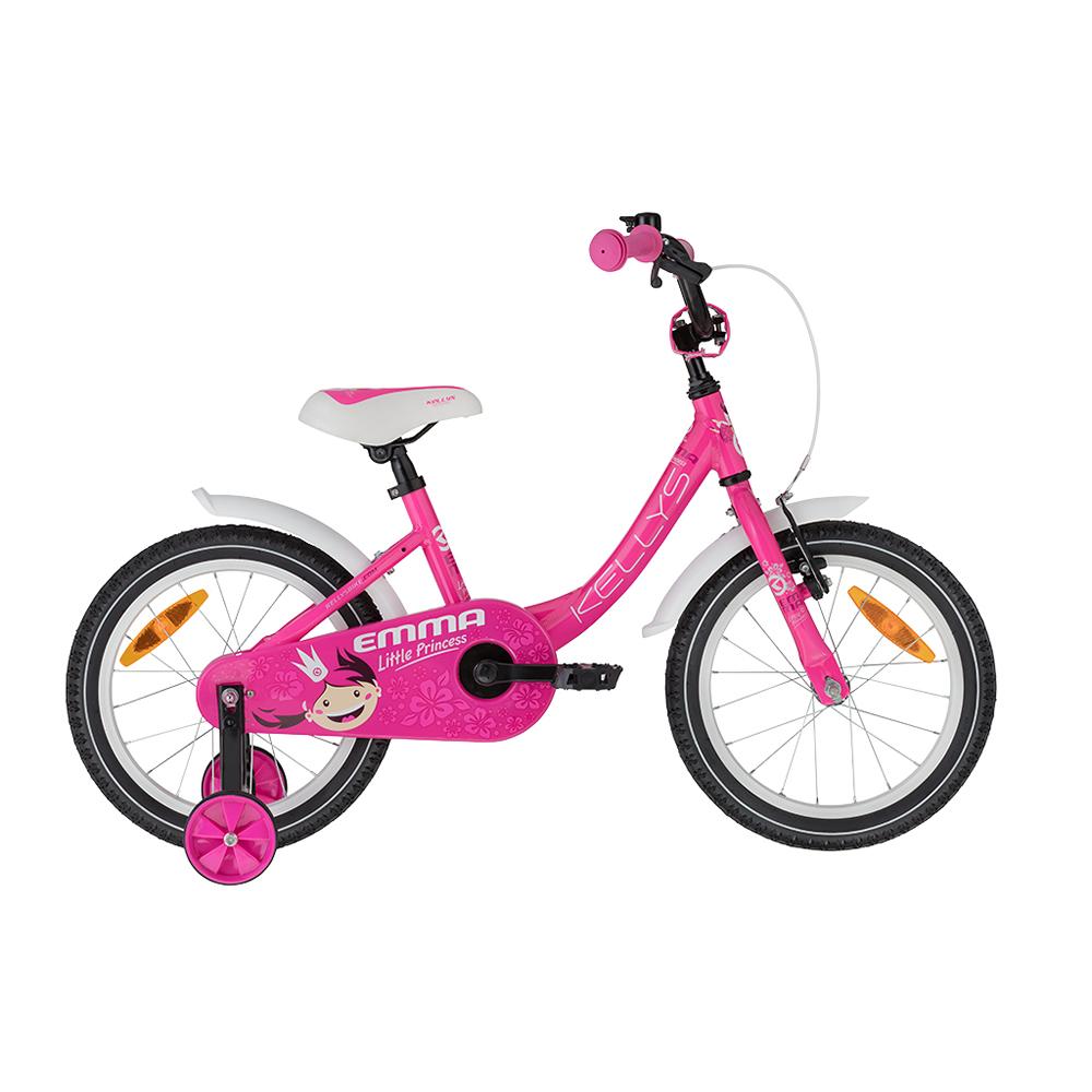 """Dětské kolo KELLYS EMMA 16"""" - model 2021 Pink - Záruka 10 let"""