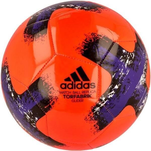 Fotbalový míč Adidas Bundesliga Torfabrik Glider BS3500 oranžovo-černo-fialový