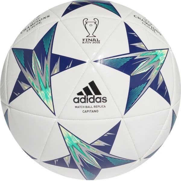 Fotbalový míč Adidas Capitano Finale 18 Kiev CF1198 bílo-modrá