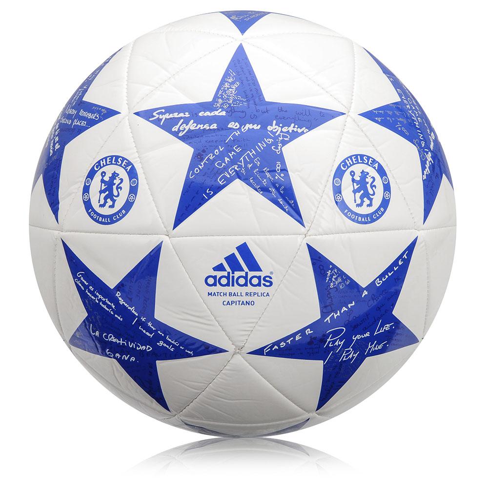 Fotbalový míč Adidas Capitano Finale 15 Chelsea AP0396 bílo-modrá