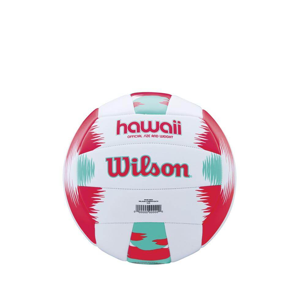 Volejbalový míč Wilson AVP Hawaii WTH482696XB bílo-červeno-zelený