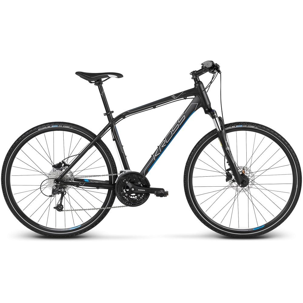 """Pánské crossové kolo Kross Evado 6.0 28"""" - model 2020 černo-modrá - S (17'') - Záruka 10 let"""