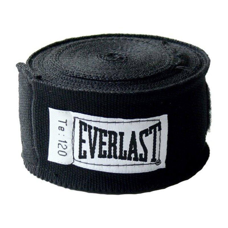 Boxerské bandáže Everlast Pro Style Hand Wraps 300 cm černá
