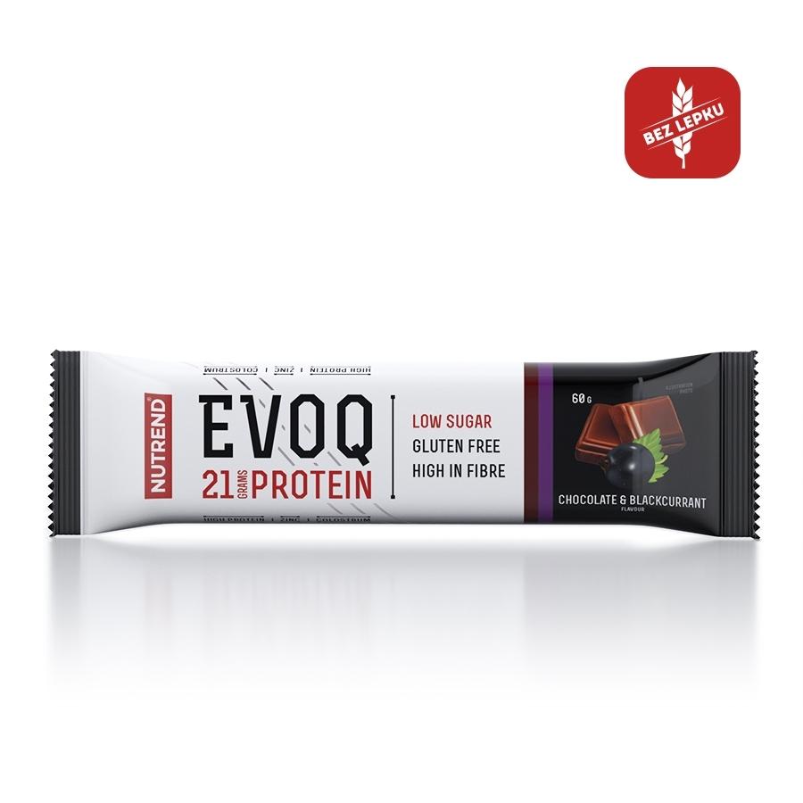 Proteinová tyčinka Nutrend EVOQ 60g čokoláda a černý rybíz
