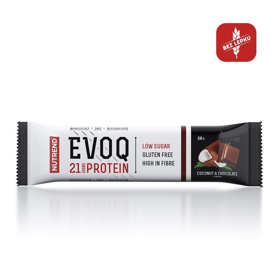 Proteinová tyčinka Nutrend EVOQ 60g čokoláda - kokos